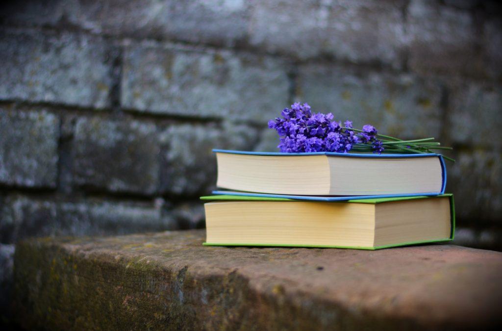 Książki na murku