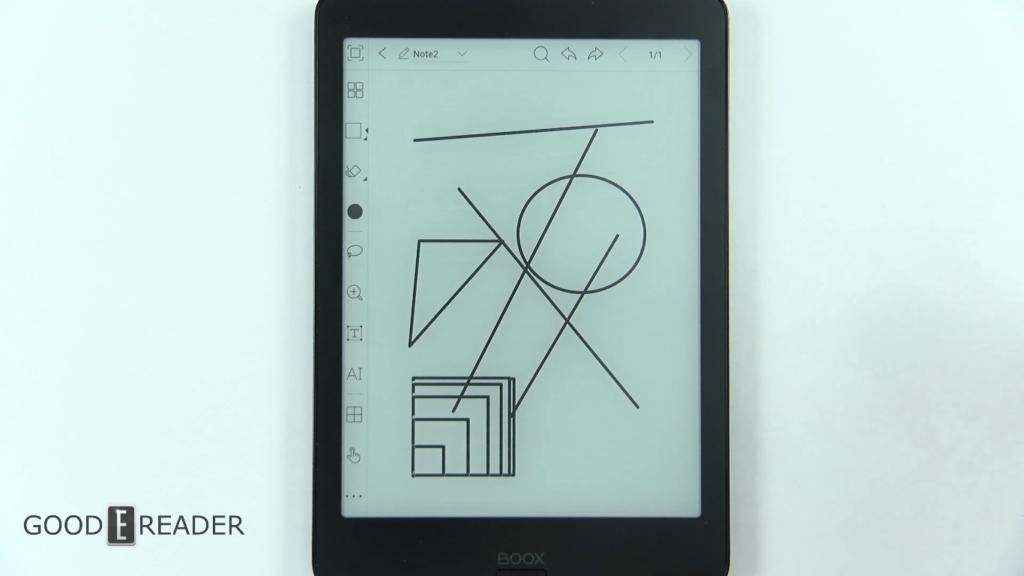 Kształty geometryczne na czytniku Onyx Boox Nova 2