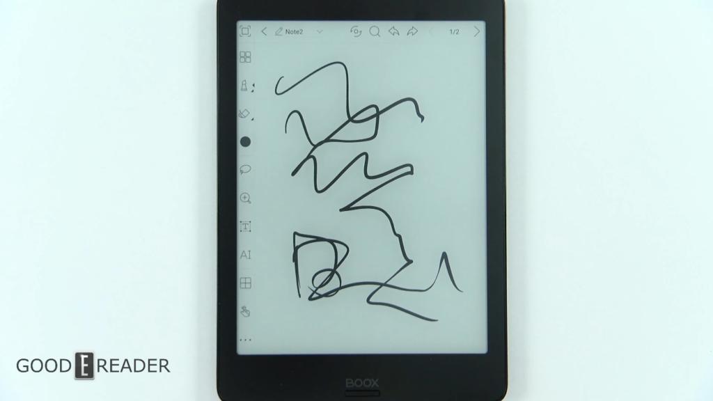 Rysowanie linii na czytniku Onyx Boox Nova 2