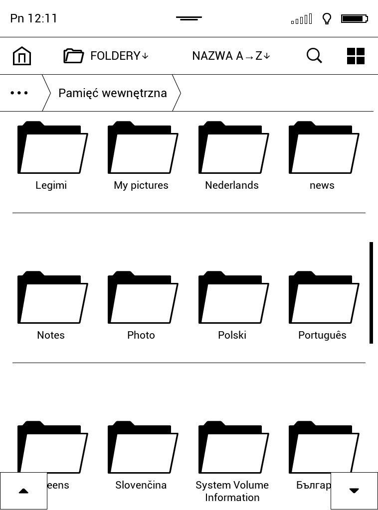 Grupowanie ebooków (podział katalogów na czytniku ebooków) na czytniku PocketBook