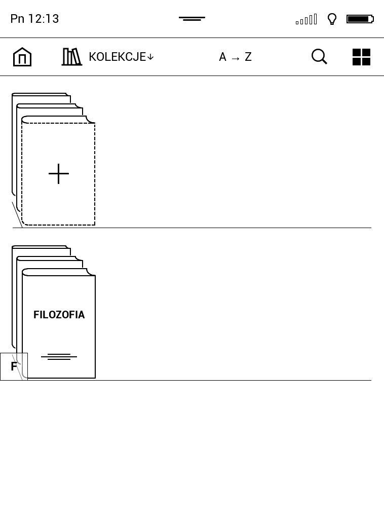 Grupowanie ebooków pod kątem kolekcji na czytniku PocketBook