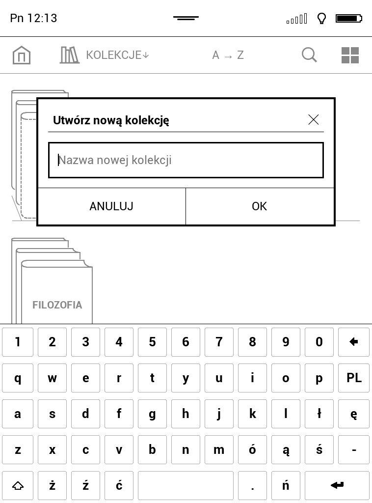 Tworzenie kolekcji ebooków na czytniku PocketBook