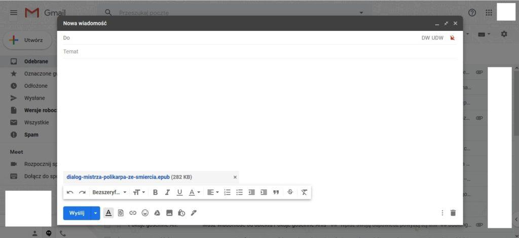 Przesyłanie książek w wersji elektronicznej na czytnik ebooów za pomocą adresu Send-to-PocketBook