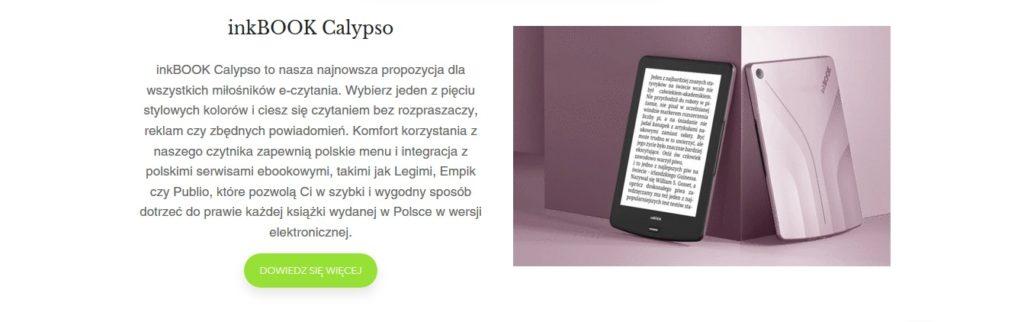 Różowy inkBOOK Calypso (strona producenta)