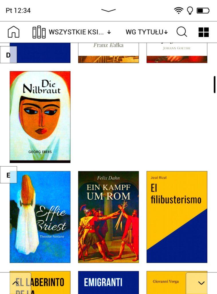 Biblioteka ebooków na PocketBooku Color