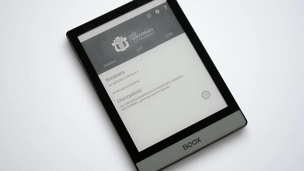 Aplikacja brewiarz dla mobilnych na czytniku ebooków