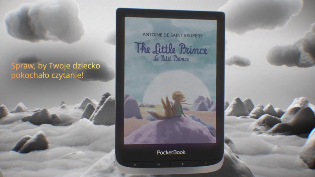 Książki dla dzieci na kolorowym czytniku ebooków [fragment reklamy PocketBooka Color]