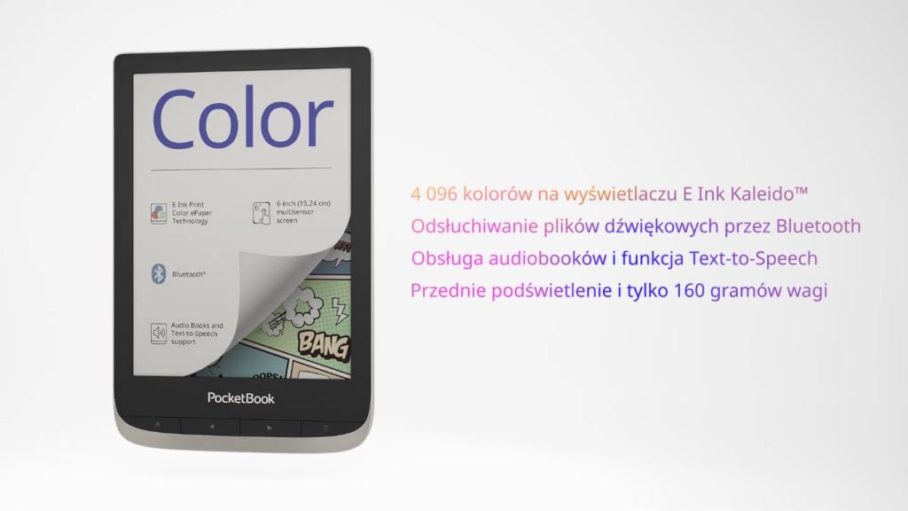 Podstawowe cechy PocketBooka Color [fragment reklamy]