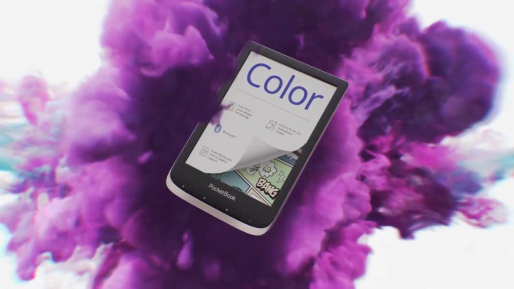 Kolorowy wyświetlacz  E Ink Kaleido [fragment reklamy PocketBooka Color]