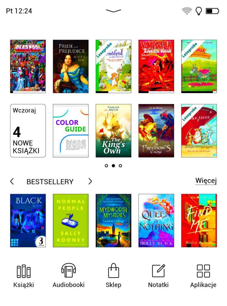 Księgarnia z ebookami na PocketBooku Color