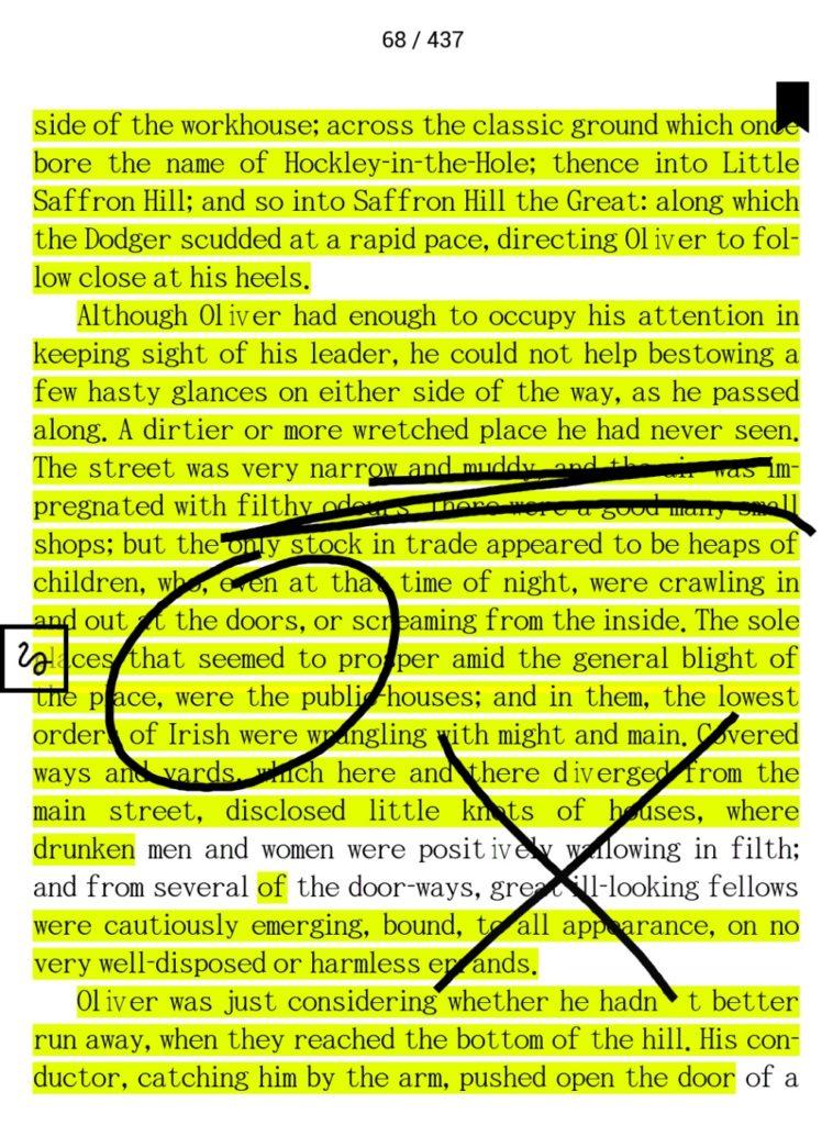 Podkreślenia i notatki na PocketBooku Color