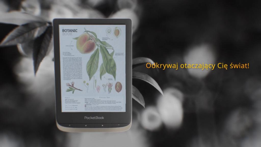 Podręczniki i książki naukowe na kolorowym czytniku ebooków [fragment reklamy PocketBooka Color]