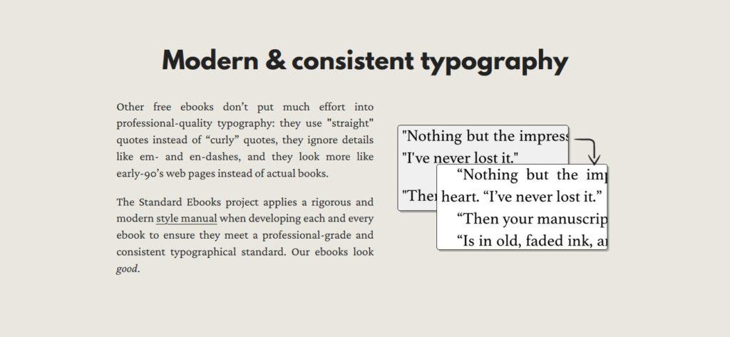 Standardy typograficzne ebooków z serwisu Standard Ebooks