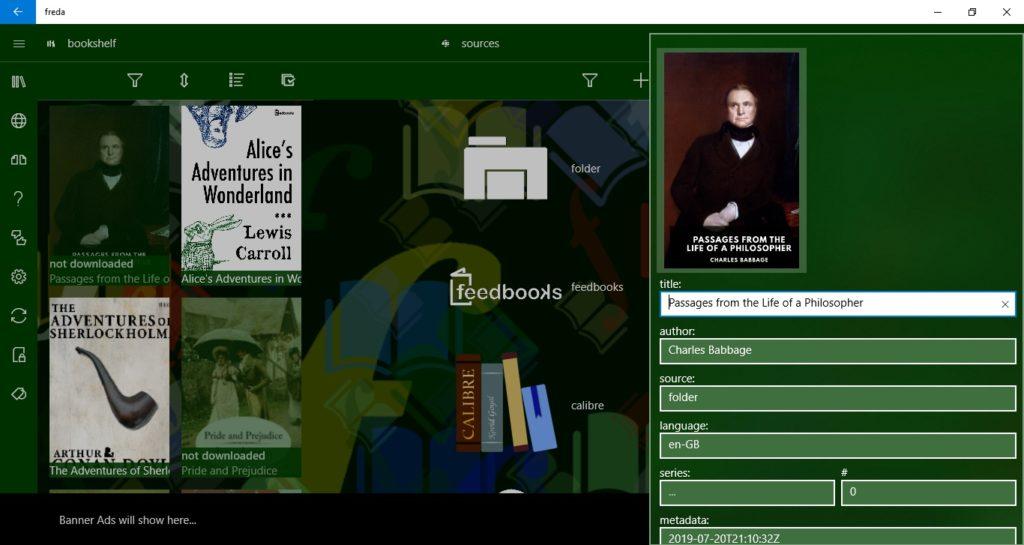 Edytowanie ebooka w aplikacji Freda