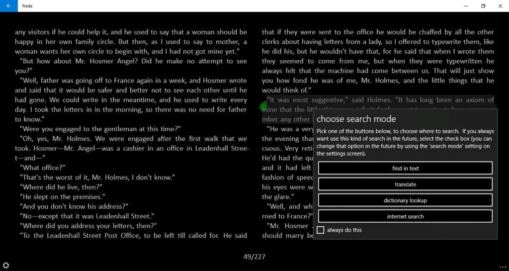 Tłumaczenie tekstu w aplikacji Freda