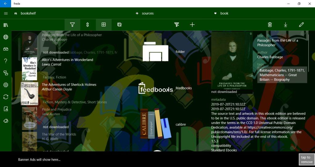 Zmiana widoku biblioteki w aplikacji Freda