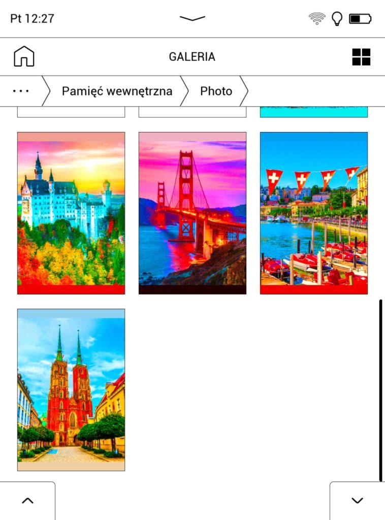 Galeria zdjęć na PocketBooku Color