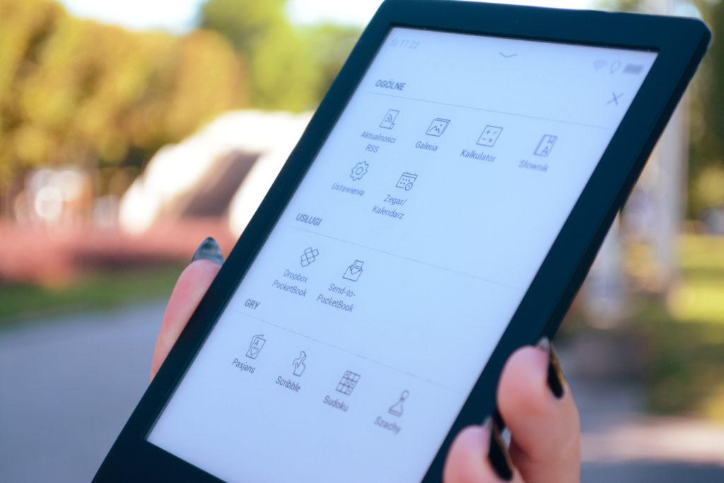 Interfejs PocketBooka Touch Lux 5