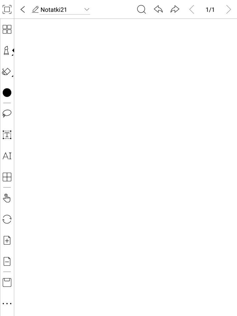 Aplikacja do robienia notatek na czytnikach Onyx Boox