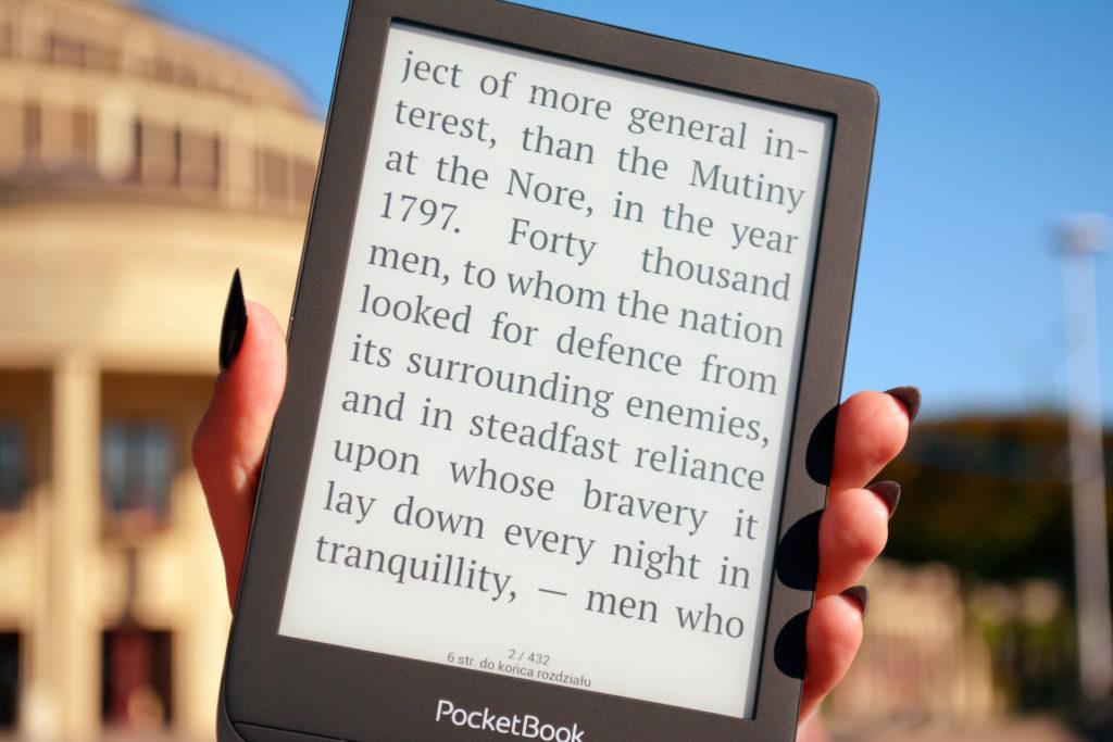 Powiększanie tekstu na PocketBooku Touch Lux 5