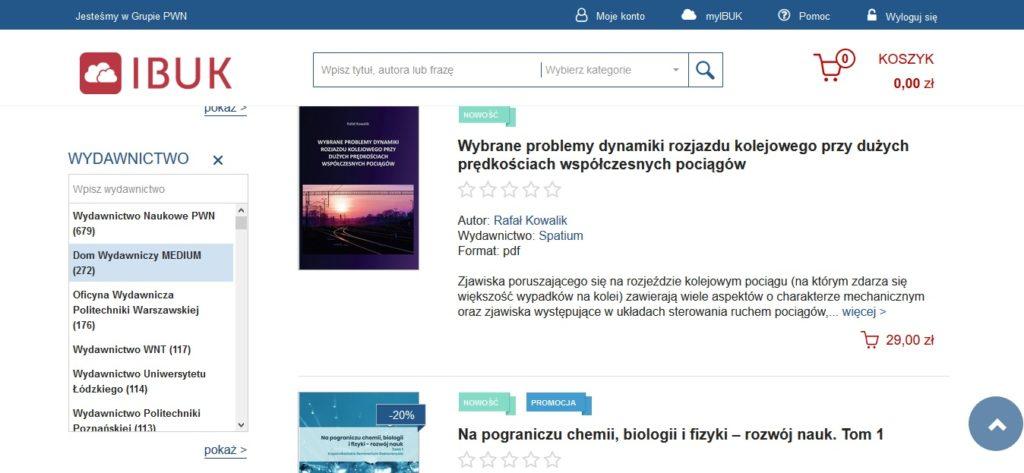 Ebooki akademickie w serwisie IBUK