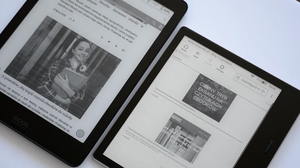 Przeglądanie Internetu na Onyx Boox Nova 2 i Kindle Oasis 3