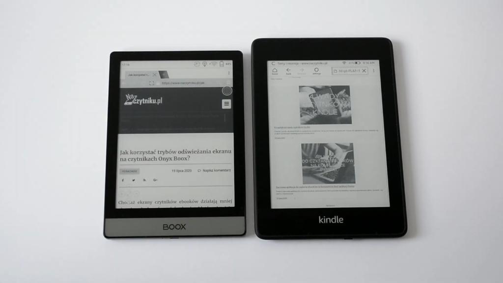 Przeglądanie Internetu na Onyx Boox Poke 2 i Kindle Paperwhite 4