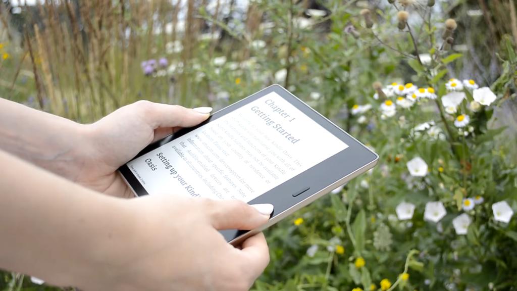 Czytanie ebooków na Kindle Oasis 3