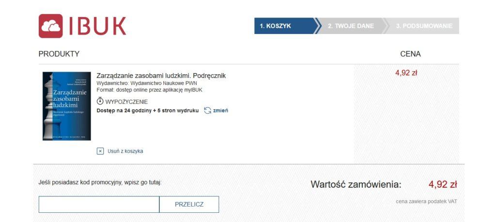 Wypożyczanie ebooka w serwisie IBUK