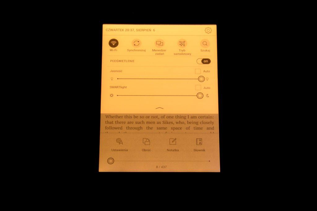 Podświetlenie ekranu na PocketBooku Touch Lux 5