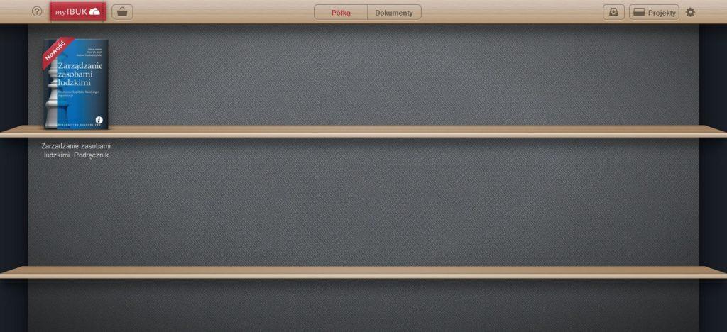 Wirtualna półka z książkami w serwisie IBUK