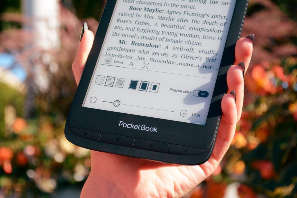 Regulacja wyświetlania tekstu na PocketBooku Touch Lux 5