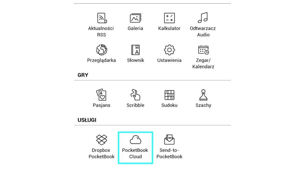 Ikona PocketBook Cloud w aplikacjach