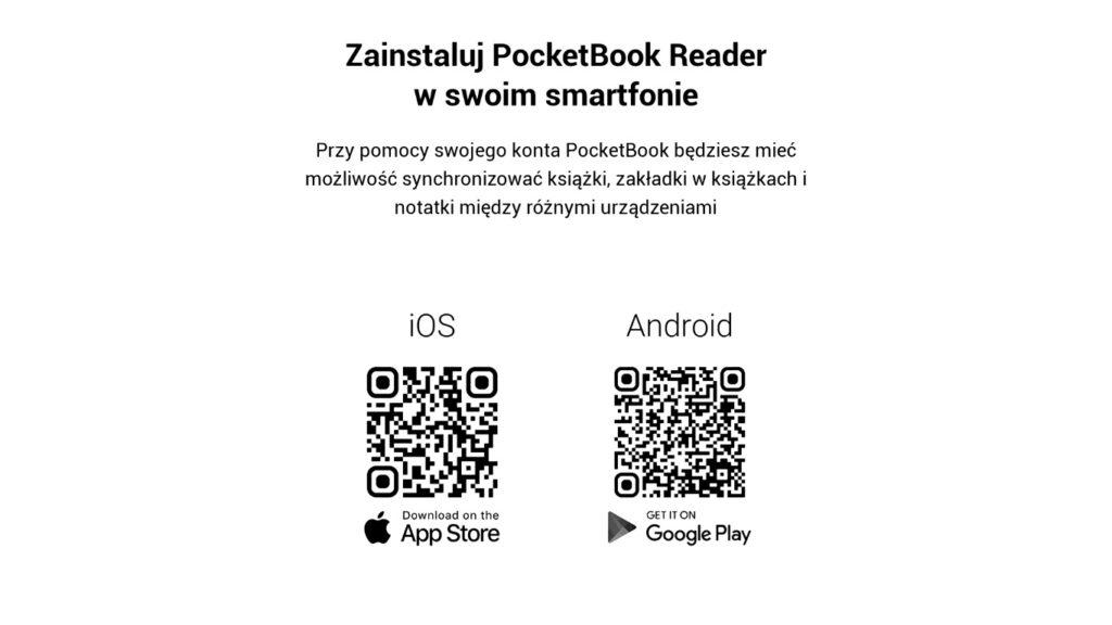 Pobieranie aplikacji PocketBook Reader na smartfona