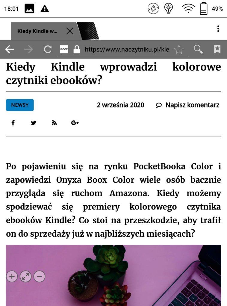 Przeglądanie Internetu na Onyx Boox Poke 2