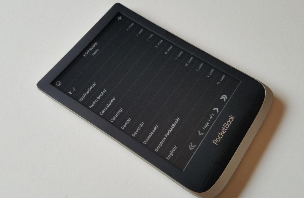 Aplikacja KOReader na czytniku PocketBook