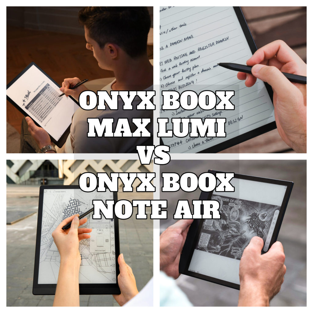 Onyx Boox Max Lumi vs Onyx Boox Note Air