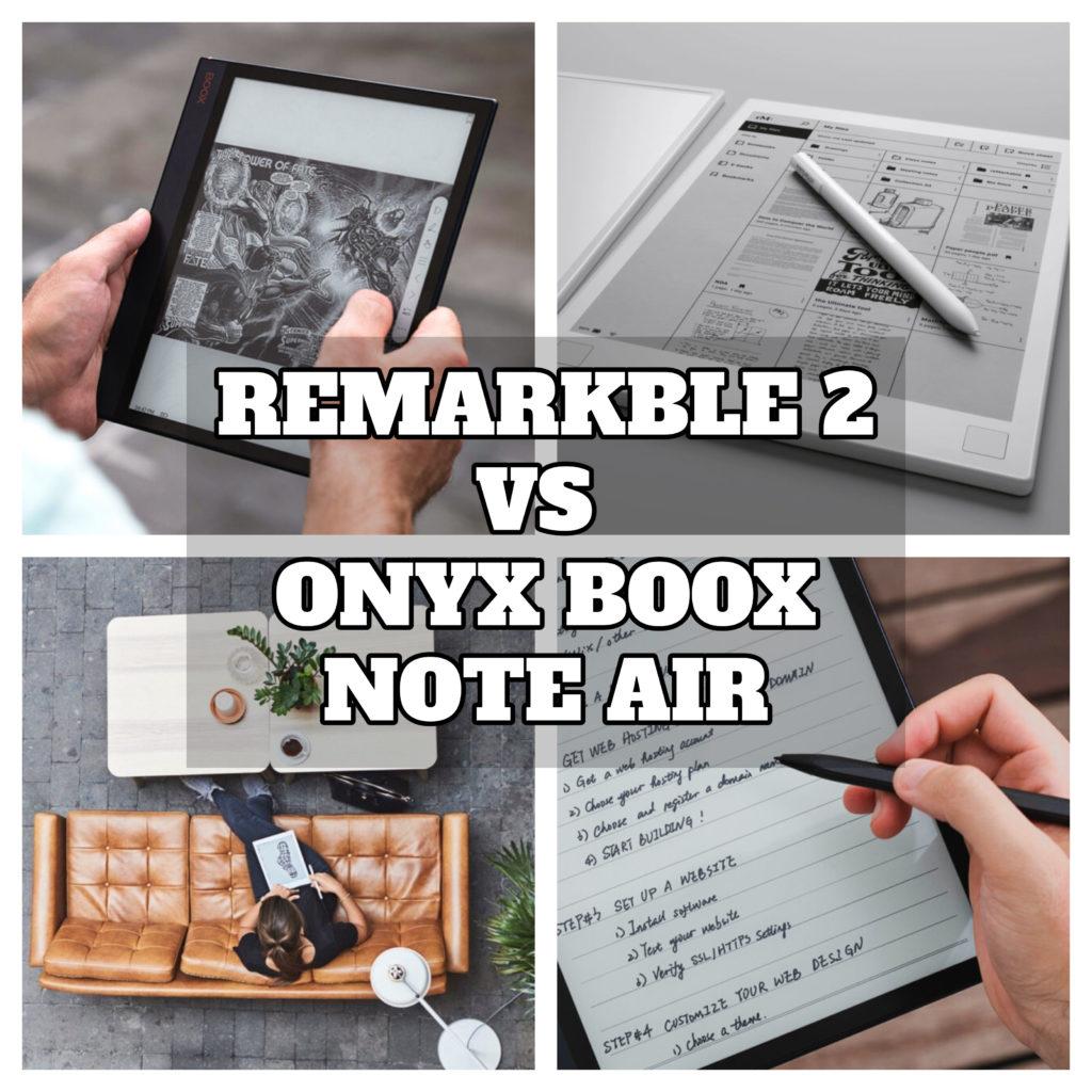 10.3-calowe narzędzia do robienia elektronicznych notatek [Remarkable 2 vs Onyx Boox Note Air porównanie]