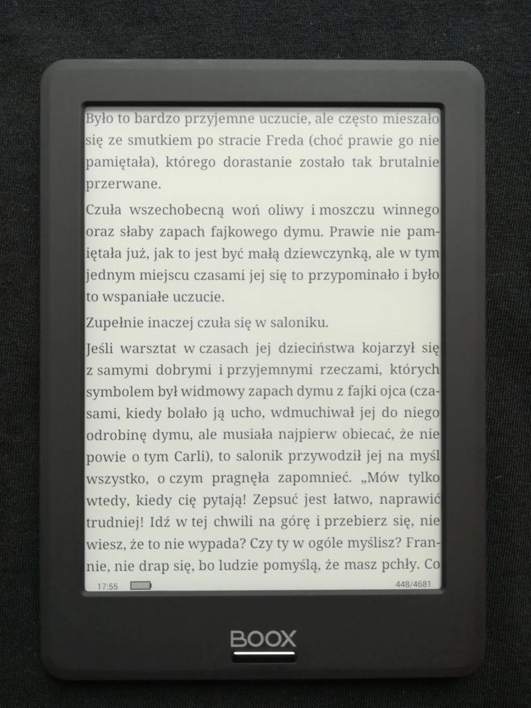 Czytanie ebooków na czytniku Onyx Boox Viking