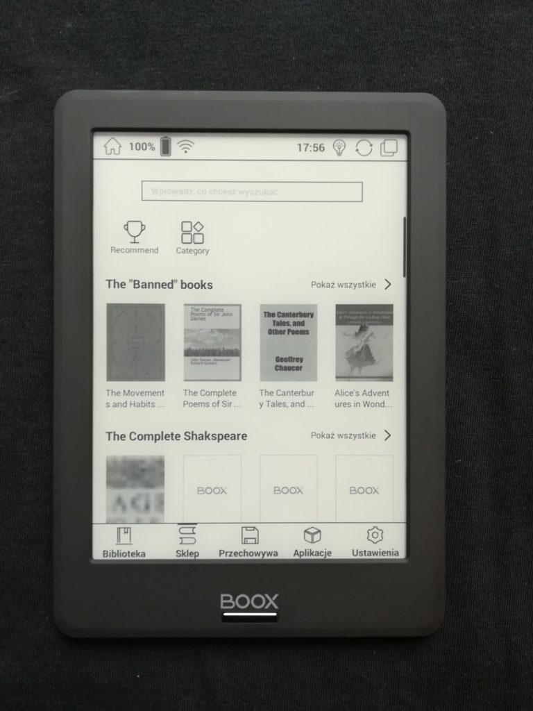 Sklep z aplikacjami na czytniku Onyx Boox Viking