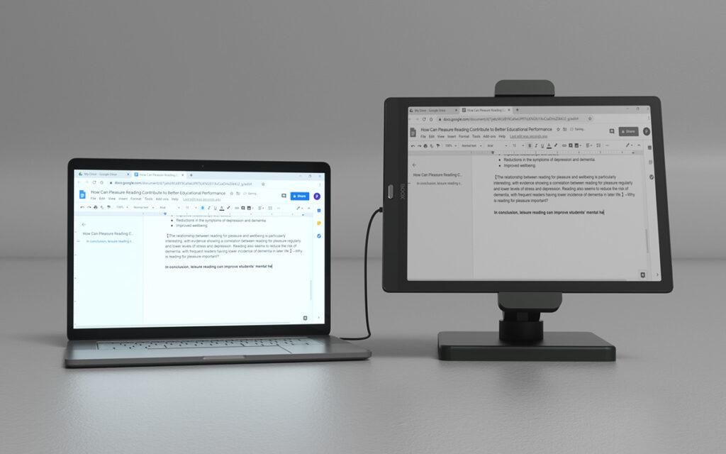 Onyx Boox Max Lumi jako dodatkowy monitor do komputera