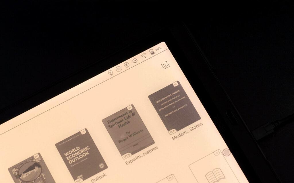 Podświetlenie ekranu na Onyx Boox Max Lumi