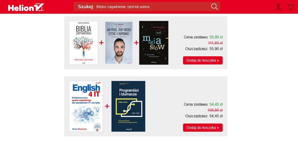 Zestawy ebooków w księgarni Helion