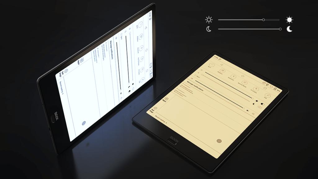 Podświetlenie ekranu na czytniku Onyx Boox Note 2