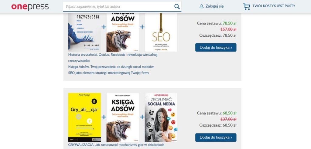 Zestawy ebooków w księgarni Onepress