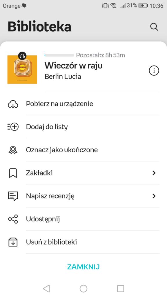 Pobieranie audiobooka na urządzenie w aplikacji Empik Go