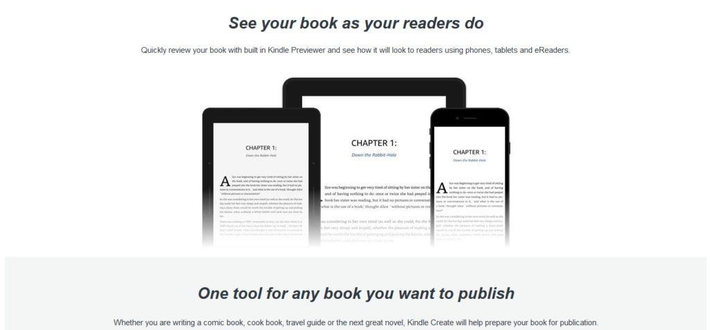 Podgląd ebooka na różnych urządzeniach w programie Kindle Create