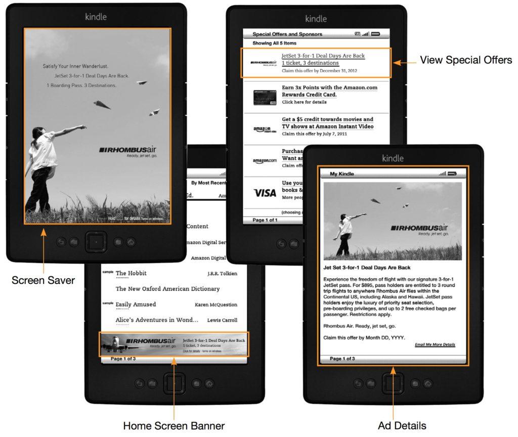 Reklamy na czytnikach Kindle