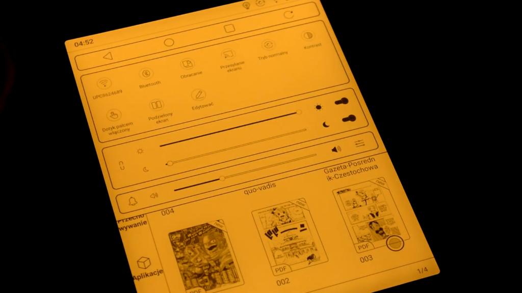 Podświetlenie ekranu na czytniku Onyx Boox Nova 3