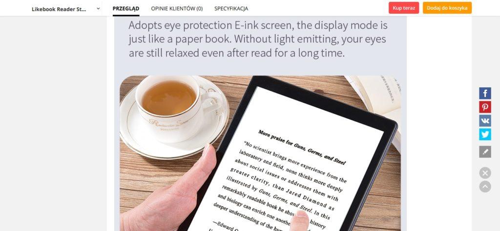 Czytnik ebooków Boyue Likebook P10